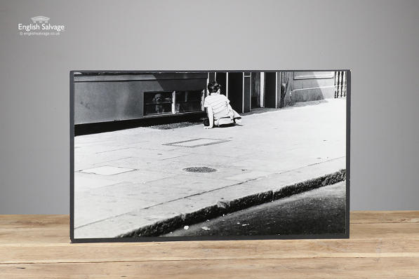 Large black and white photo Watchdog