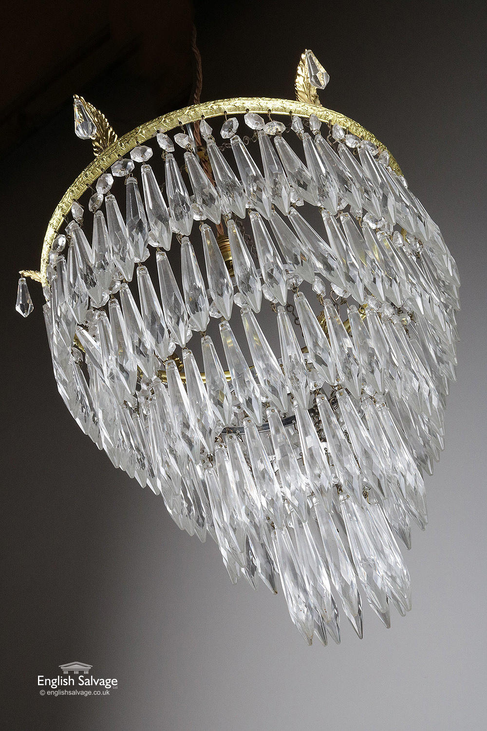 Large Five Tier Waterfall Chandelier