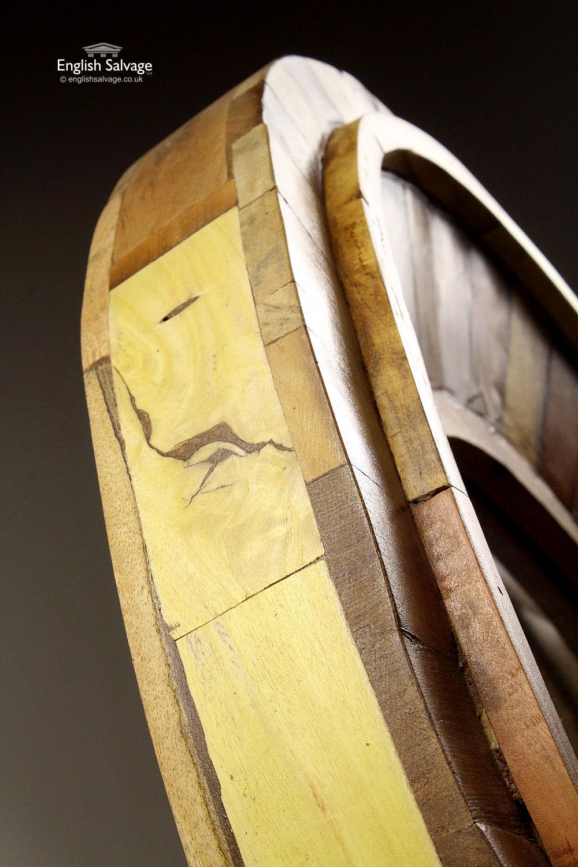 Large Round Nautical Mirror Wood Framed