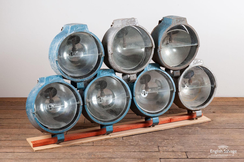 Large Vintage Bullfinch Industrial Lamps