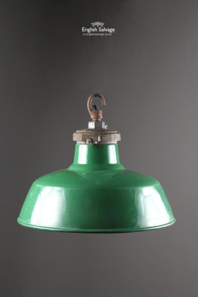 Large Vintage Enamel Factory Ceiling Light