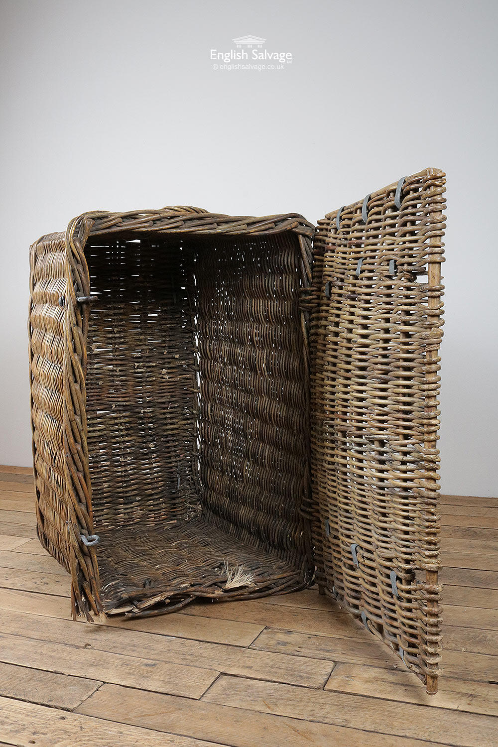 Large Vintage Wicker Laundry Basket