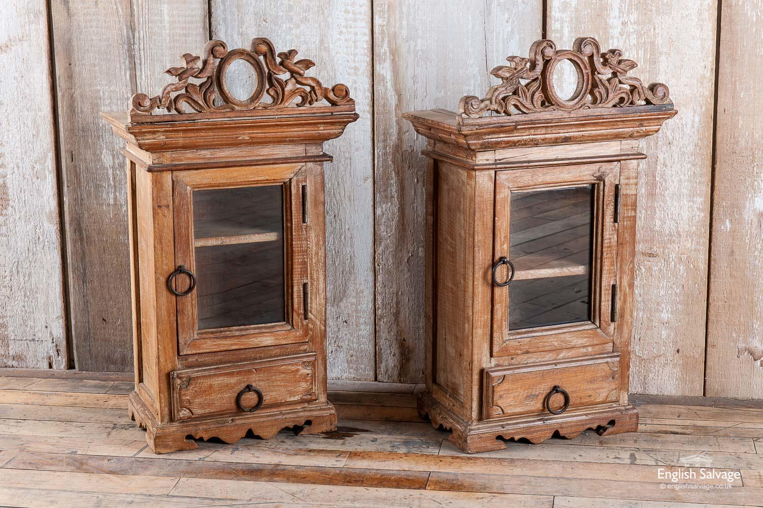 Lovely pair of small antique cabinets