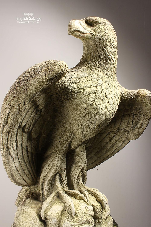 Majestic Composition Stone Eagle Finials
