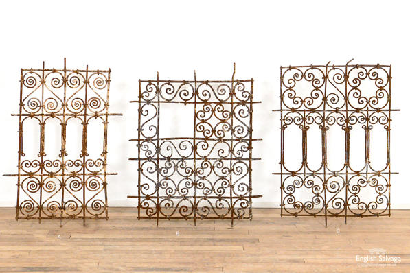 Moroccan weathered iron grilles