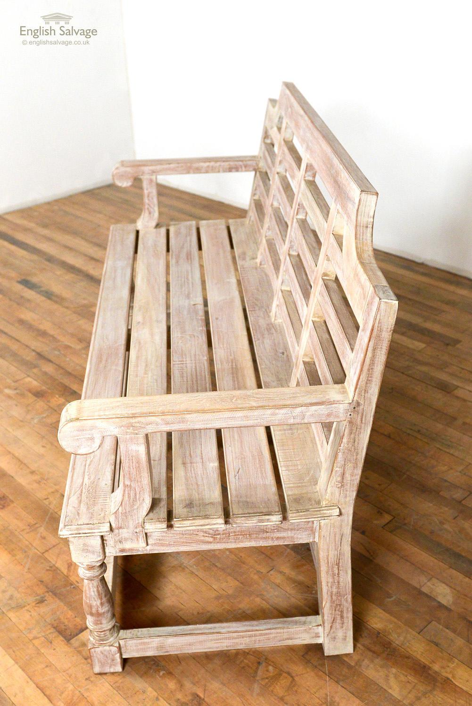 Neo Lutyens Style Wooden Garden Bench