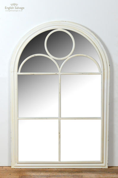 New painted metal window mirror