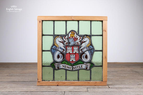 Newcastle leaded and stained glass panel
