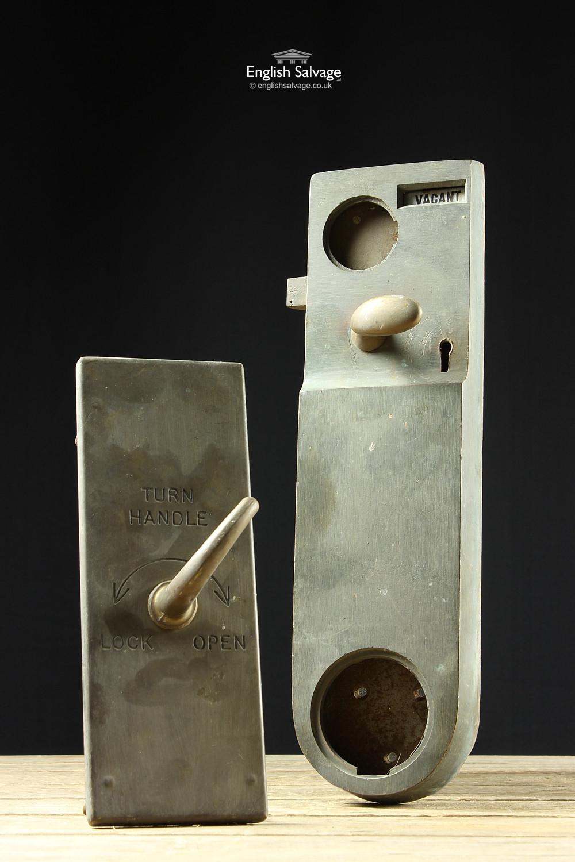 Old Brass Toilet Wc Door Turn Locks