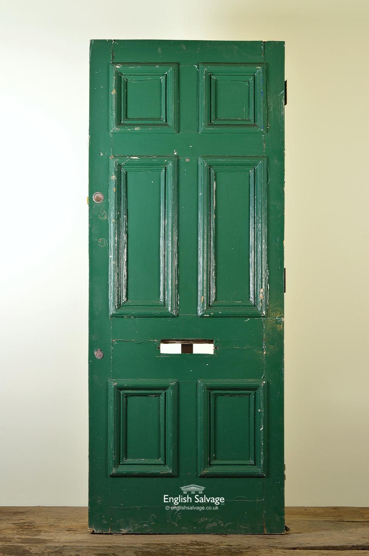 Old Painted Georgian Style Front Door
