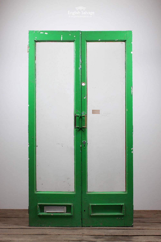 Old Single Glass Pane External Double Door