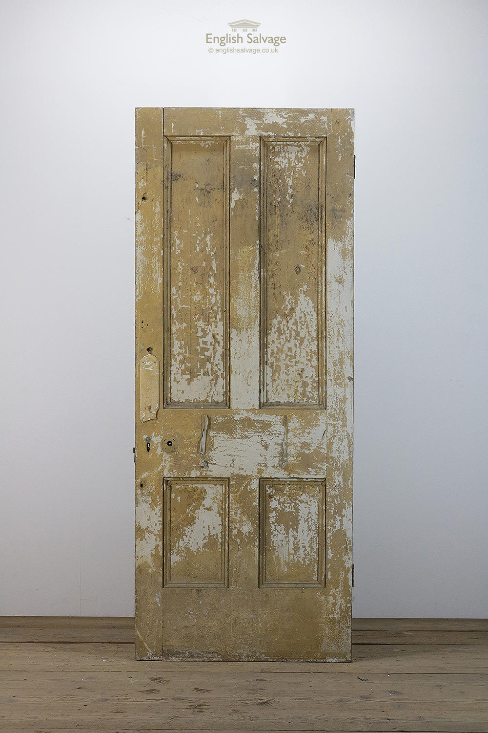 Old Victorian Four Panel Pine Door