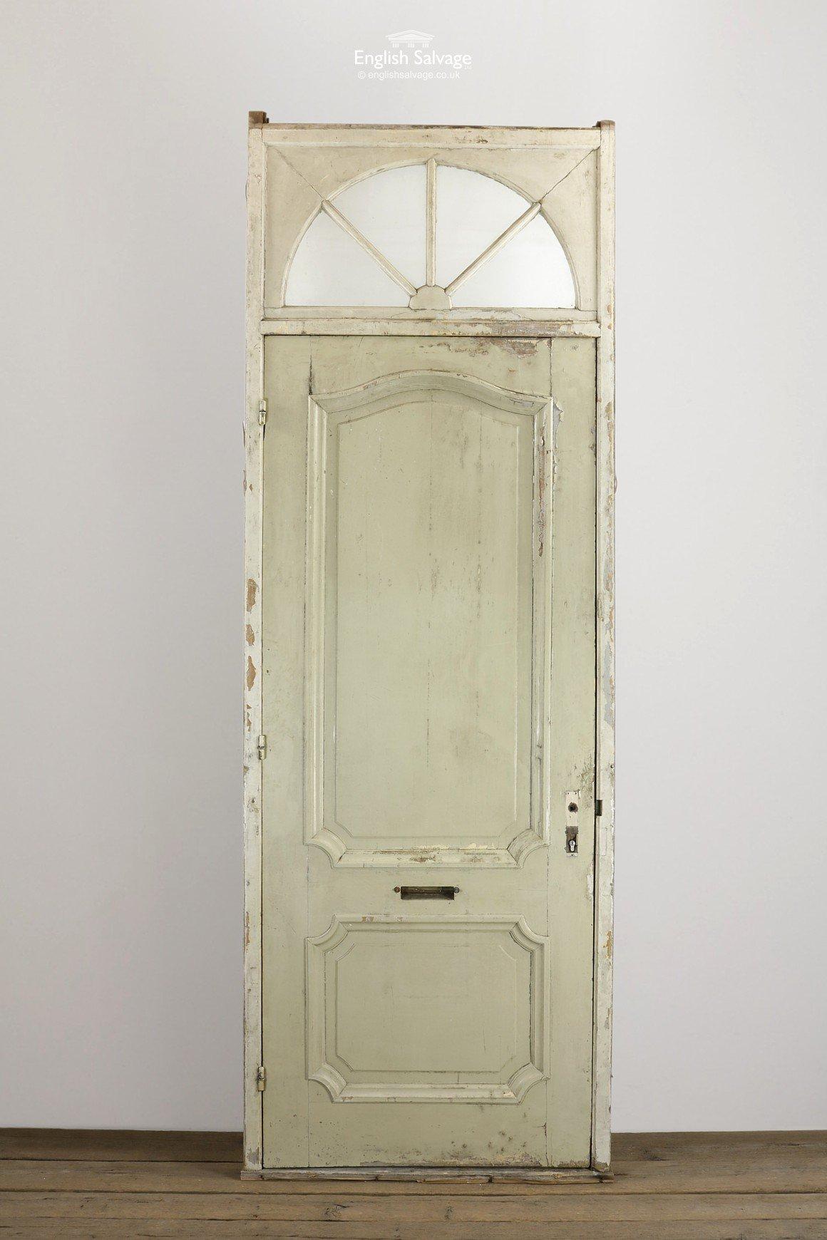 Ornate Carve Oak Door Frame Sunburst Fanlight