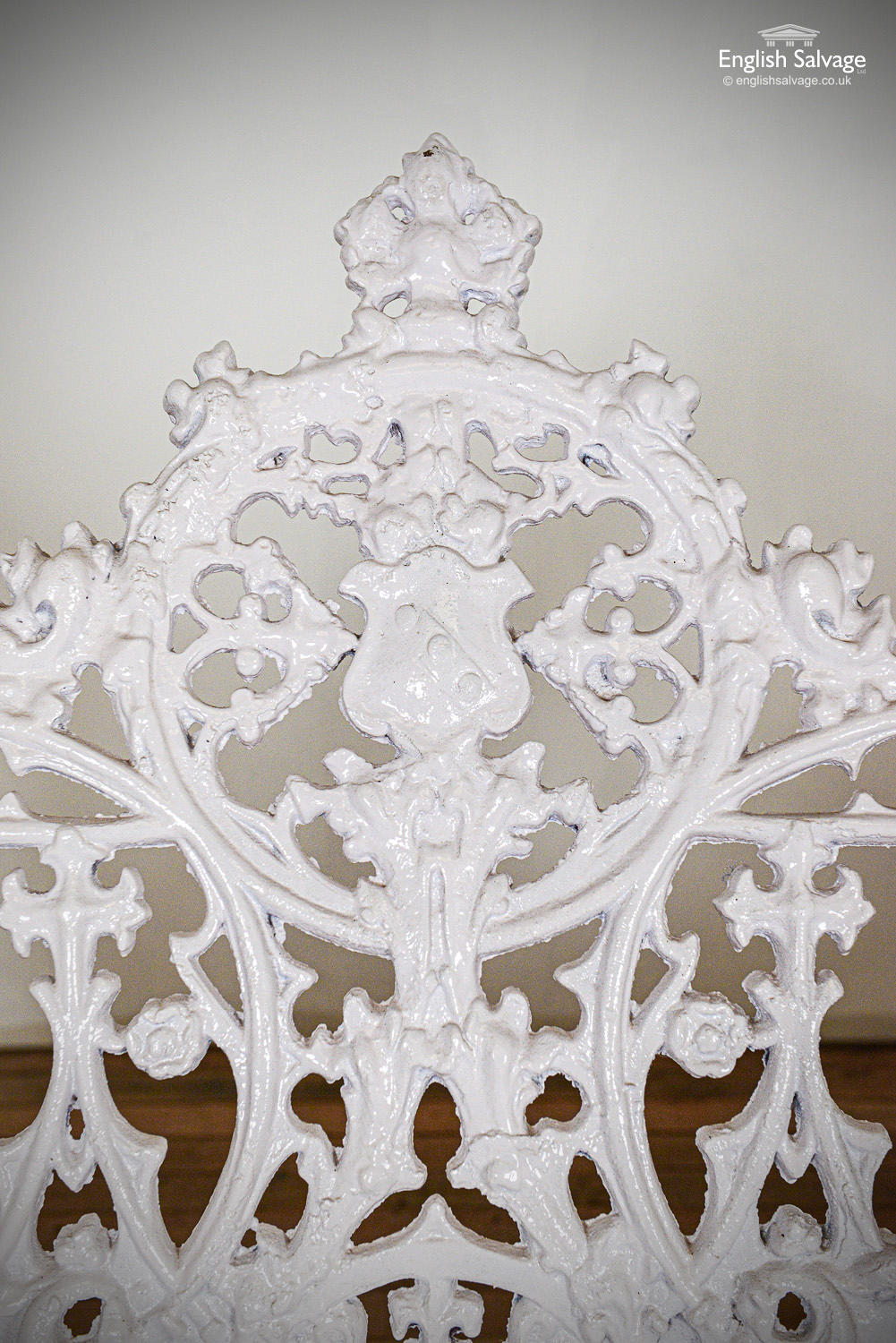 Ornate Cast Iron Bench And Chair Set