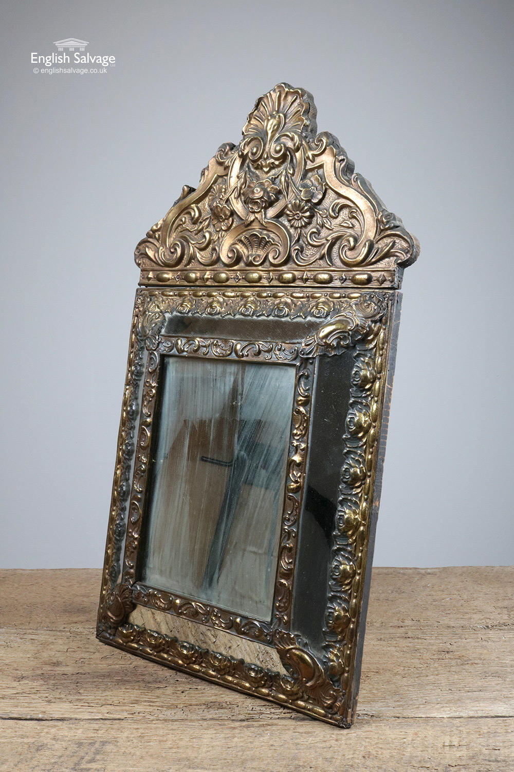 Pair Of Antique Parclose Mirrors