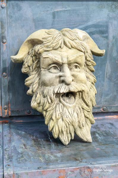 Pan mask water feature / spout / plaque