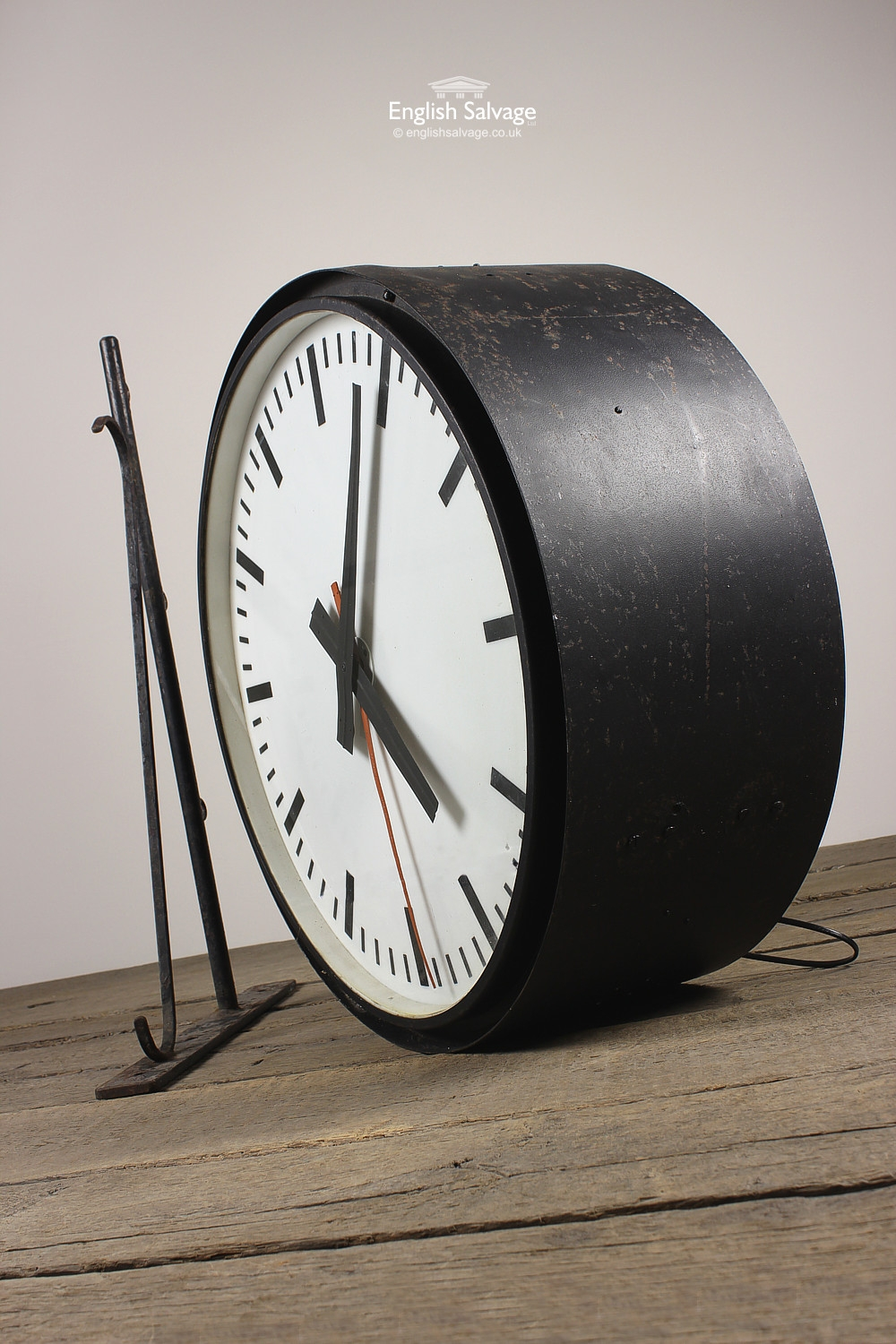 Period Illuminated Wall Mounted Station Clock