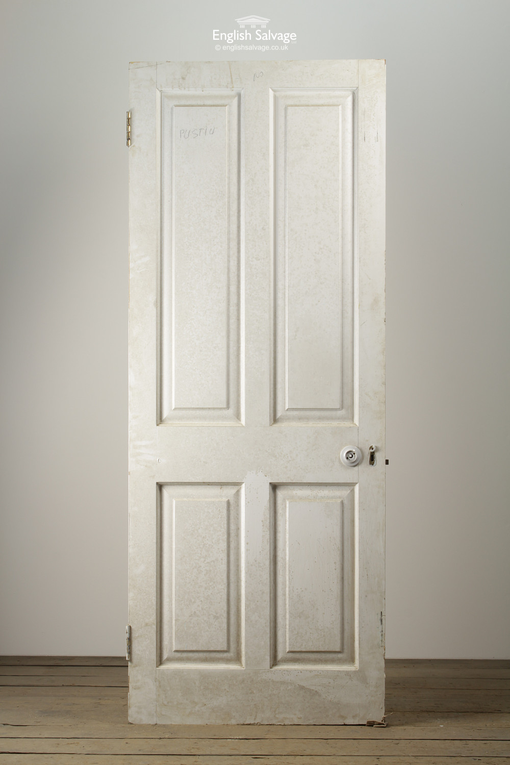 Pitch Pine Four Panel Interior Door