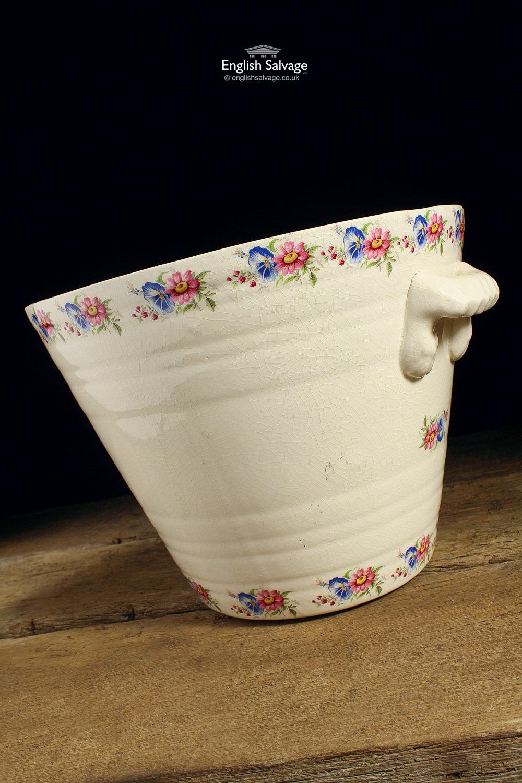 Rare Antique Ceramic Dairy Milk Pail