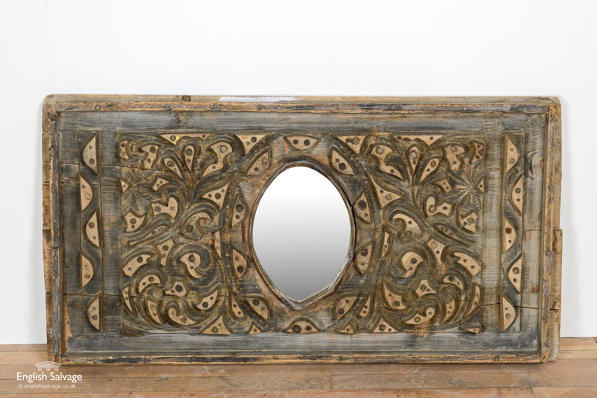 Re-purposed iron bar mould mirror