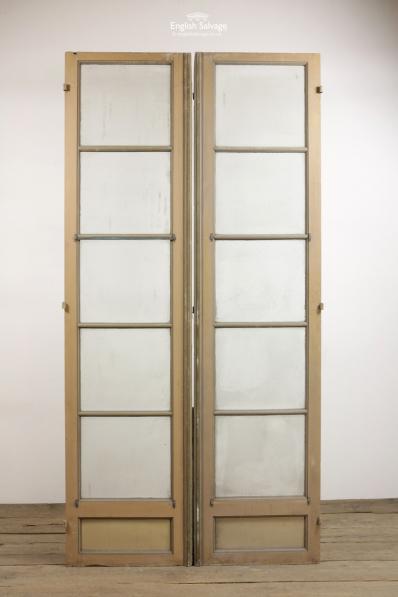 Reclaimed 5 Panel French Glazed Double Doors