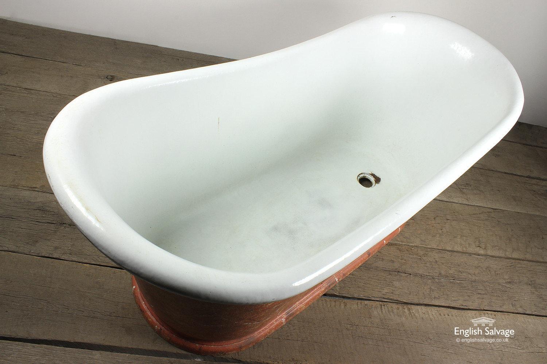 Reclaimed Antique Cast Iron Bateau Bath