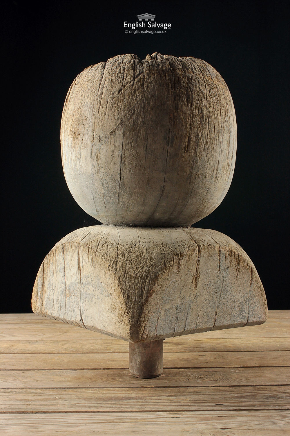 Reclaimed Antique Oak Finial