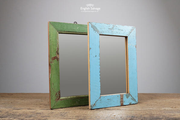 Reclaimed Blue / Green Wooden Mirrors