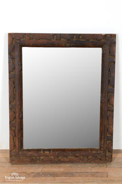 Reclaimed carved frame mirror