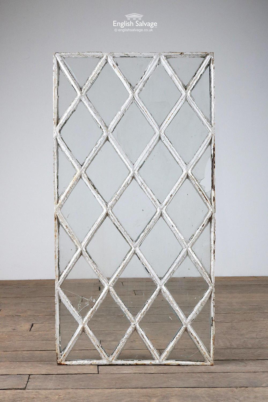 Reclaimed Cast Iron Lattice Window Panel