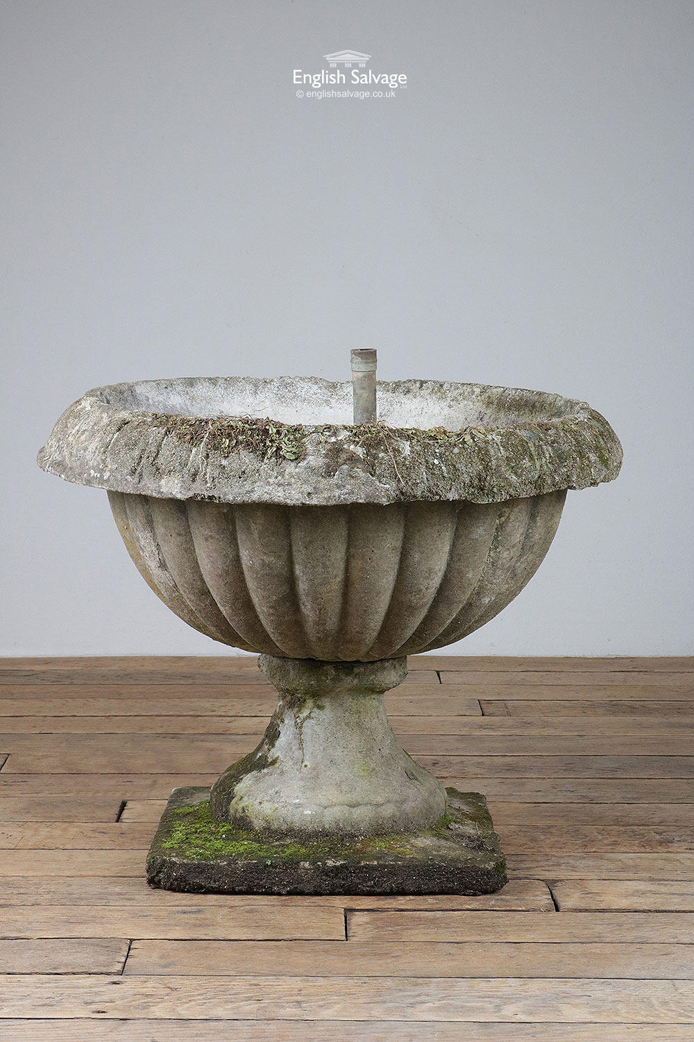 Reclaimed Composite Stone Urn Planter