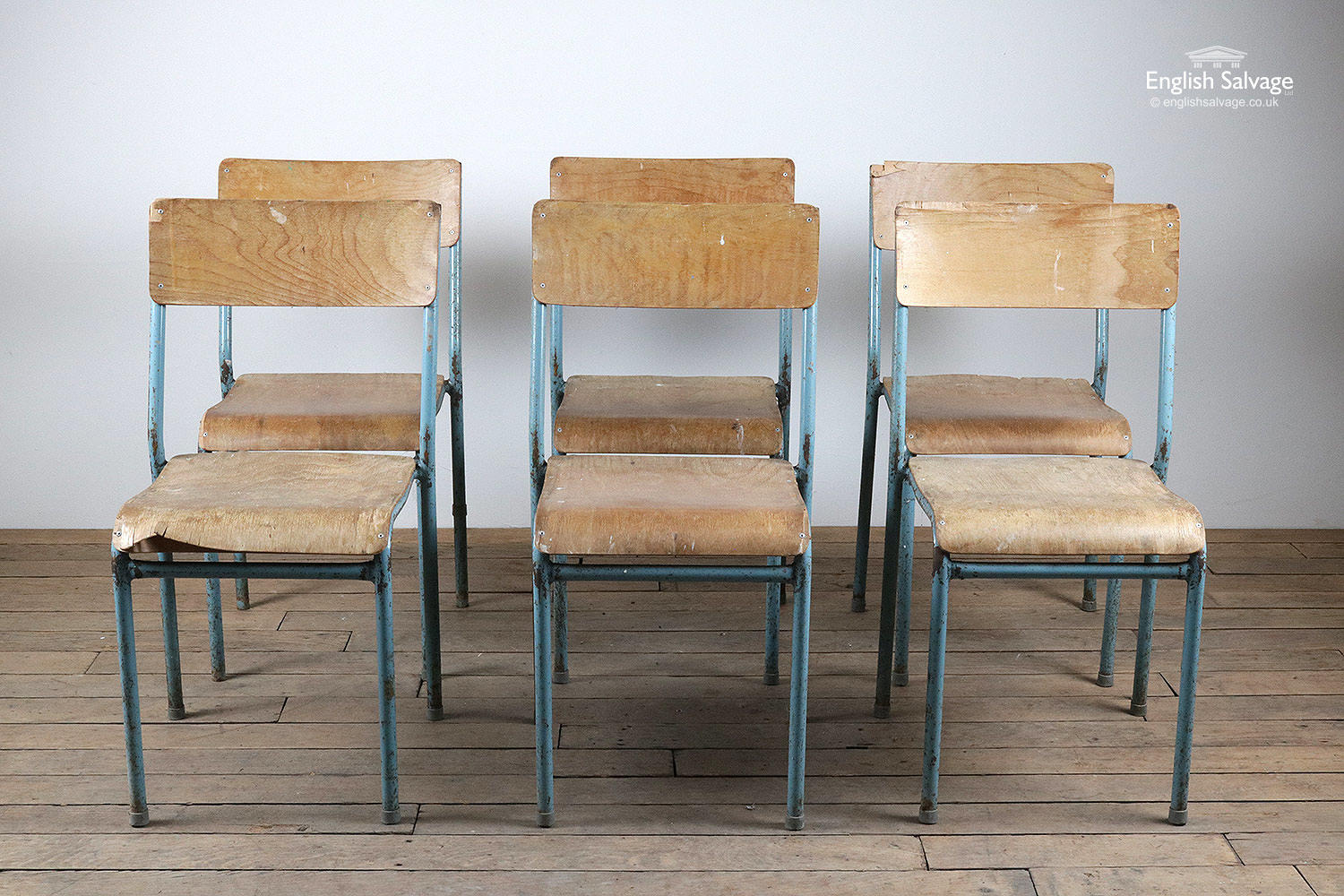 Reclaimed Cox Pel Style Stackable Chairs