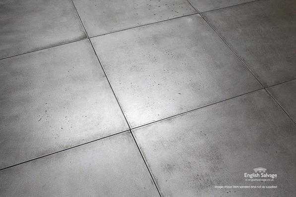 Reclaimed Galvanised Metal 60cm Square Tiles