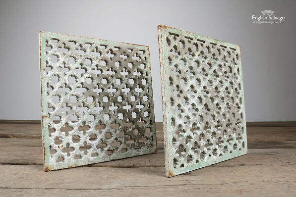 Reclaimed Gothic Cast Iron Vents / Grilles