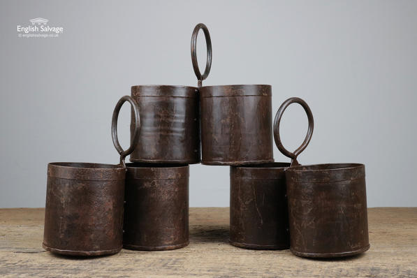 Reclaimed Indian Double Thali/Storage Pots