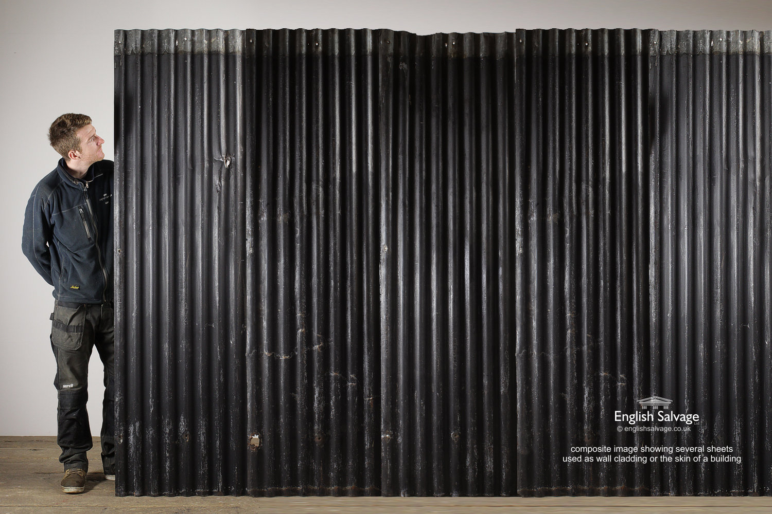 Reclaimed Industrial Corrugated Metal Sheets