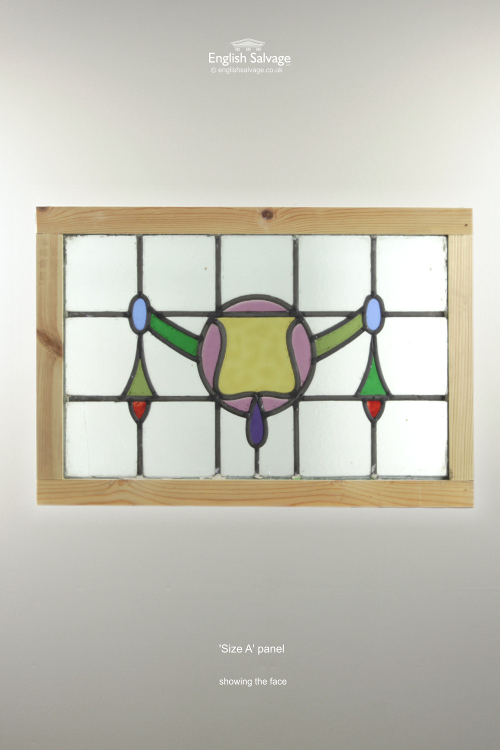 Reclaimed Leaded Stained Glass Panels