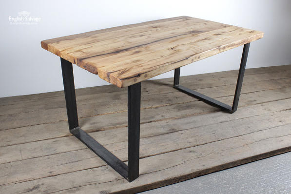 Reclaimed Oak Iron Base Tables Made To Order