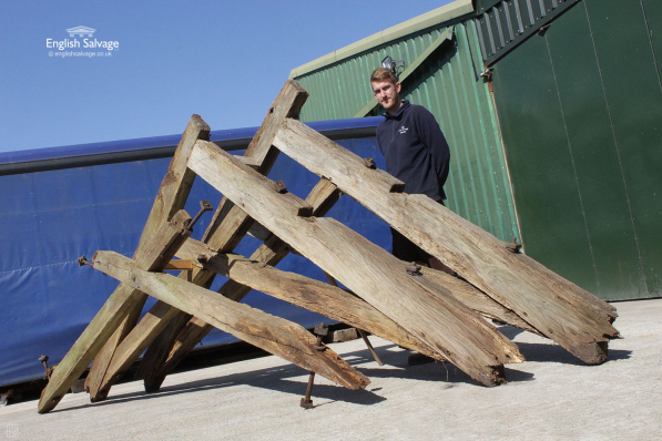 Reclaimed Old Cart Shed Oak Rafters