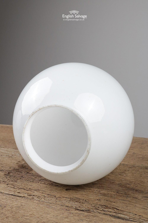 Reclaimed Opaline Ceiling Globe Lights