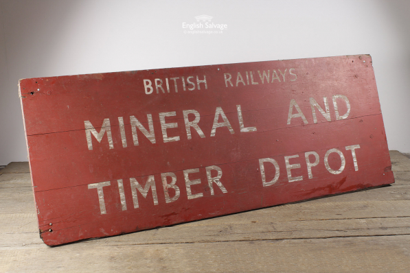 Reclaimed Original Large British Railway Sign
