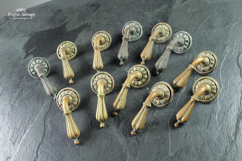 Reclaimed Ornate Brass Lever Door Handles