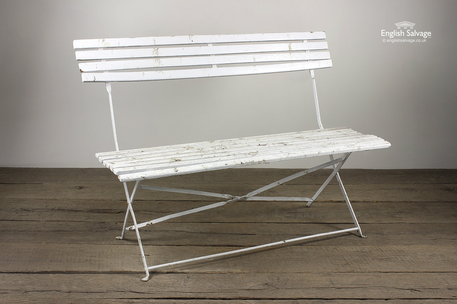 Reclaimed Painted Folding Bench Seat