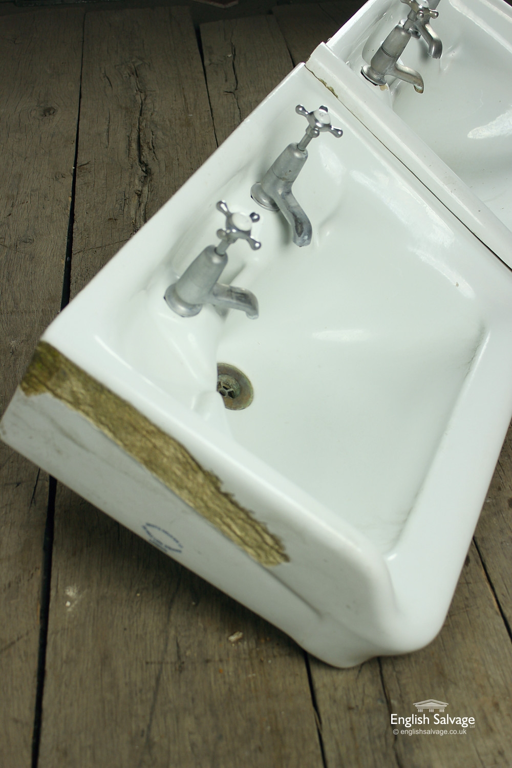 Reclaimed Pair Adjoining George V Sinks