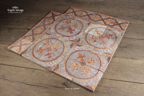 Reclaimed Patterned Encaustic Floor Tiles