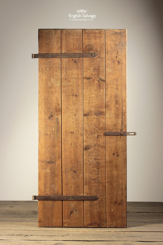 Reclaimed Pine 4 Vertical Plank Door