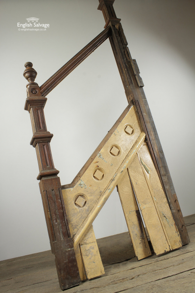 Reclaimed Pitch Pine Staircase Banister