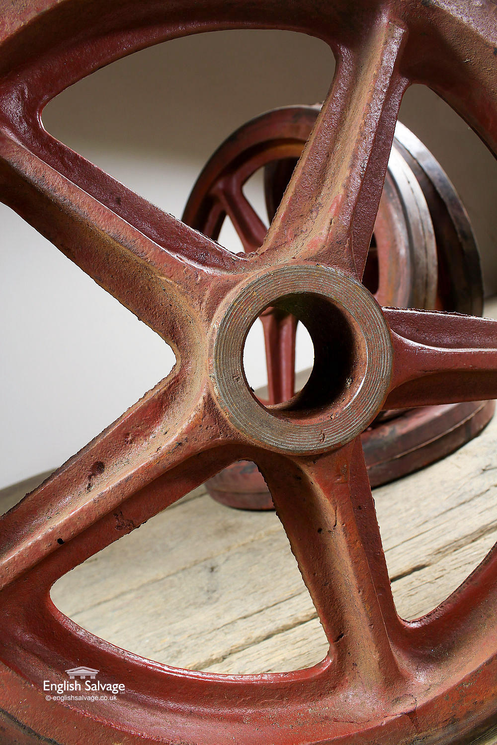 Reclaimed Set Of Four Cast Iron Wheels