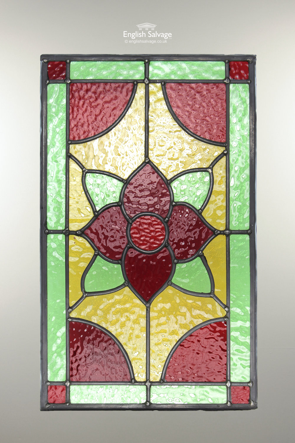 Reclaimed Small Stained Glass Leaded Panels