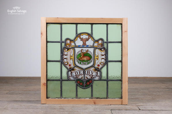 Reclaimed stained glass panel for Derby